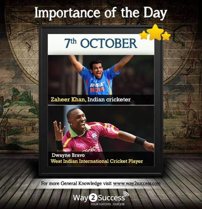 Happy Birthday to the Legend Zaheer Khan and The West Indian Dwayne Bravo.