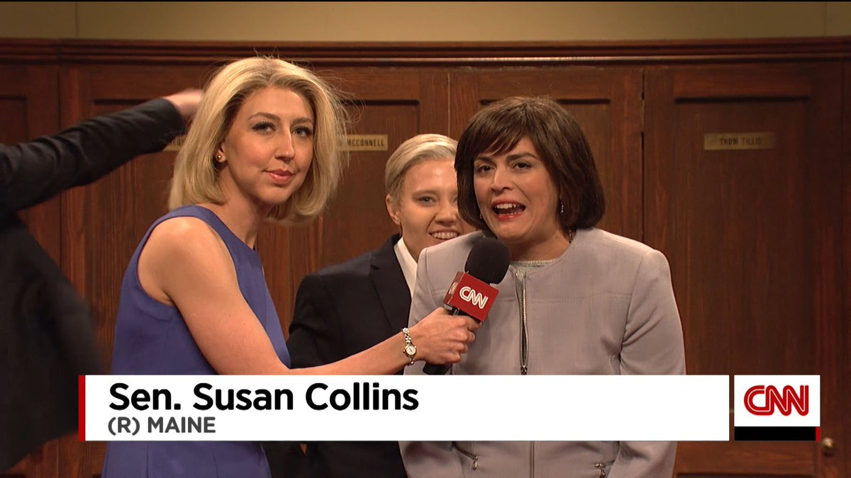 'We couldn't have done it without Susan Collins.' — Sen. Lindsey Graham #SNL