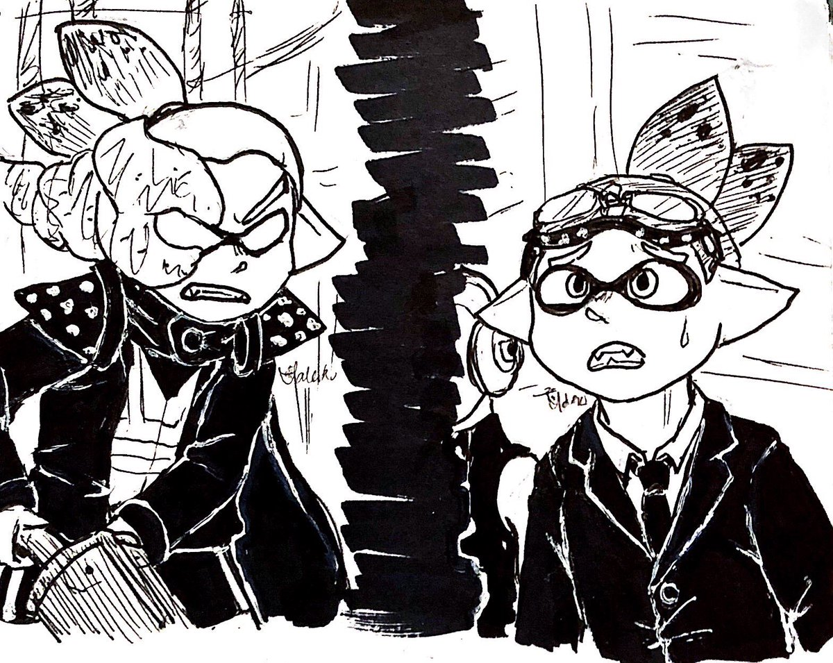 #inktober2018 day 6: sanitized i used the octo expansion prompts for this one, and i HAD to draw them from the recent arc ......... #コロイカ #Splatoon2