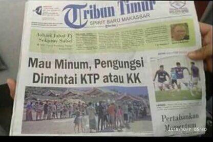 Situ waras??? Korban mana punya KTP/KK rumahnya saja hilang tersapu tsunami