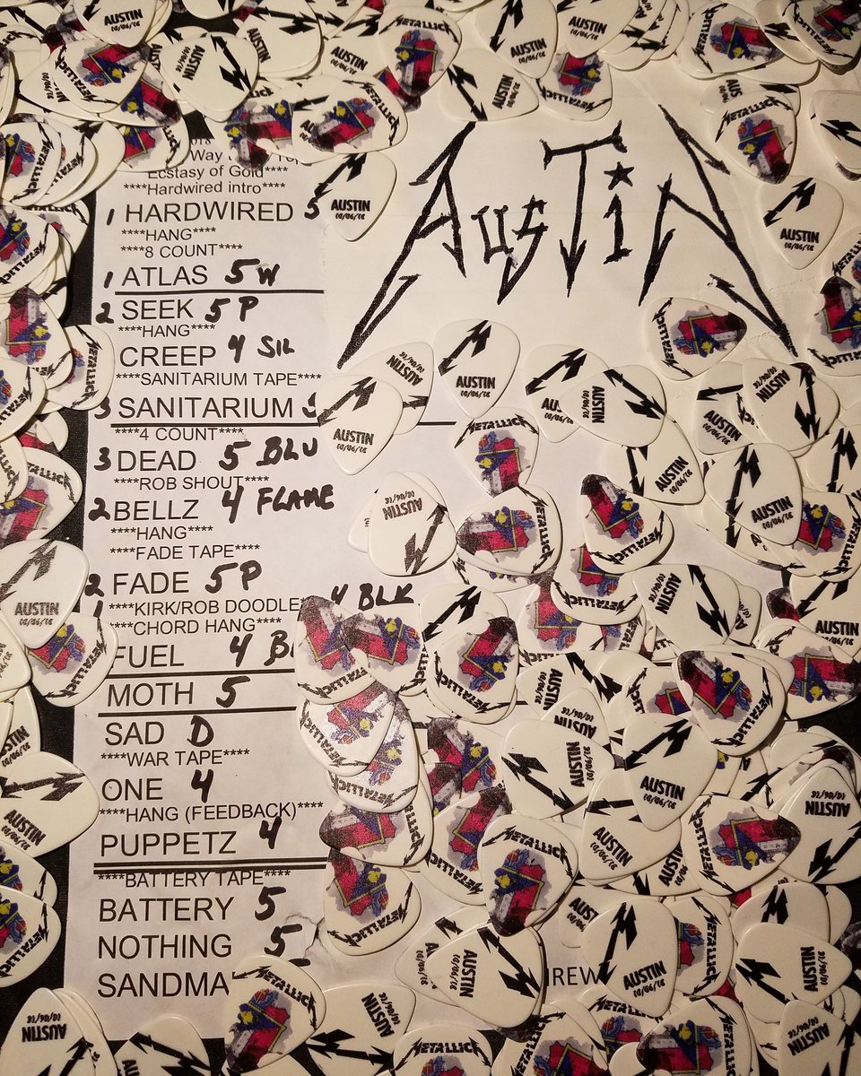 Metallica On Twitter Tonights Setlist From Austin City Limits