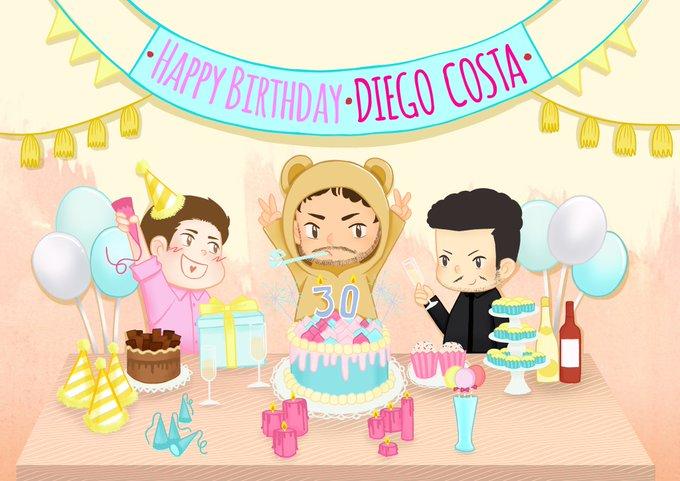 HAPPY BIRTHDAY DIEGO COSTA  7/10/1988      Hope you get well soon