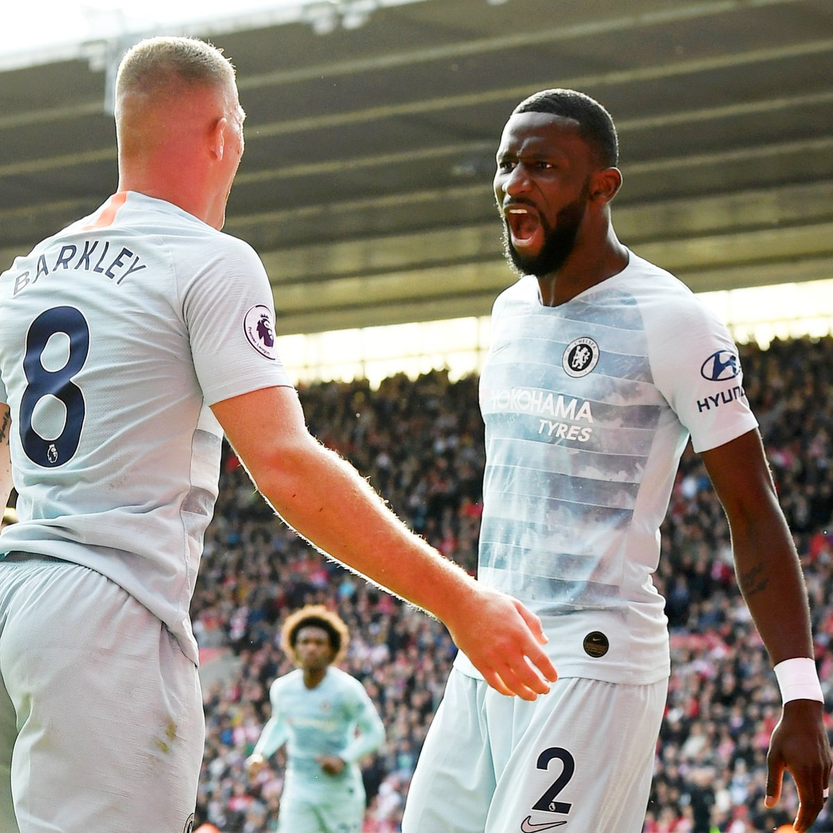 Come On You Blues!!! 💙💯 A clinical performance, a clean sheet and three points 💪🏾 Congrats @RBarkley8 on your 1st @chelseafc goal! #Hustle #AlwaysBelieve #CFC