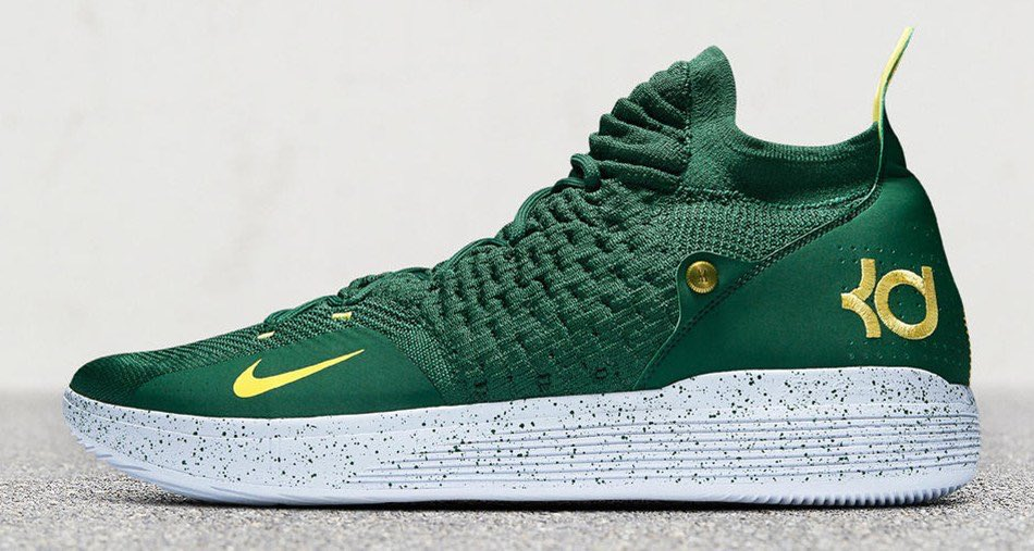 c33e03a2dd67 nike paid tribute to kdtrey5s time in seattle with two supersonics kd 11  pes .