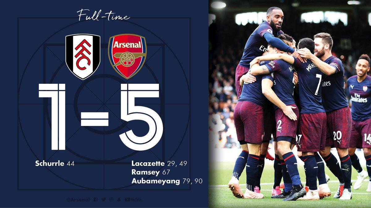 Chấm điểm: Fulham 1-5 Arsenal