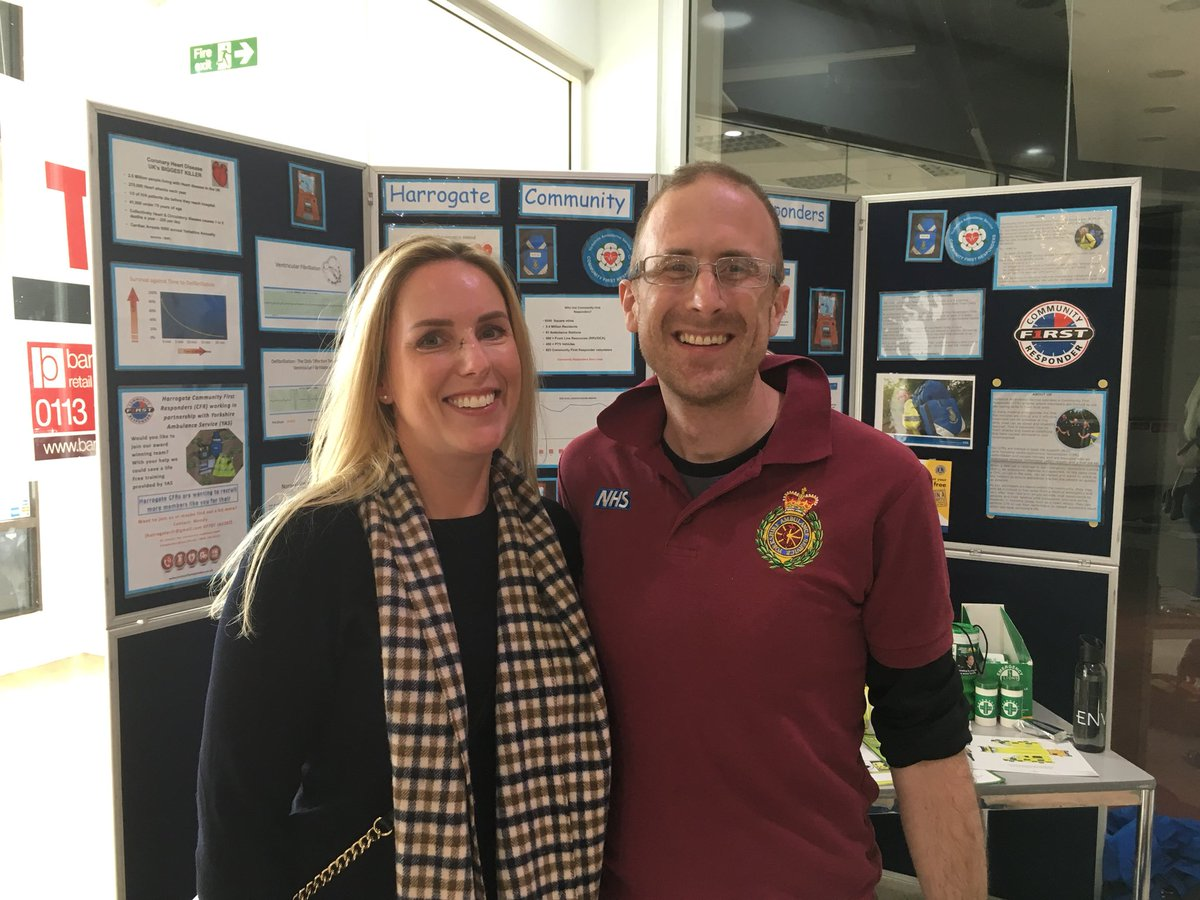 Harrogate Photos And Hastag Vk Foaming Dew Cfrs Today Alice From Came To Thank Damian For Helping Her When She Fell Ill During A Trip Cumbria He Just Happened Be In The