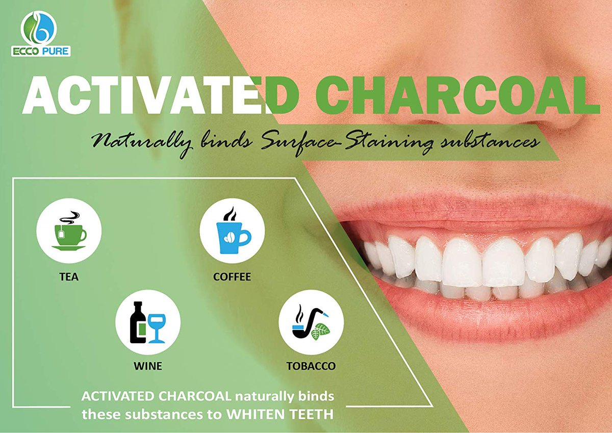 fbbbcd74232 Activated Charcoal Natural Teeth Whitening Powder by Ecco Pure