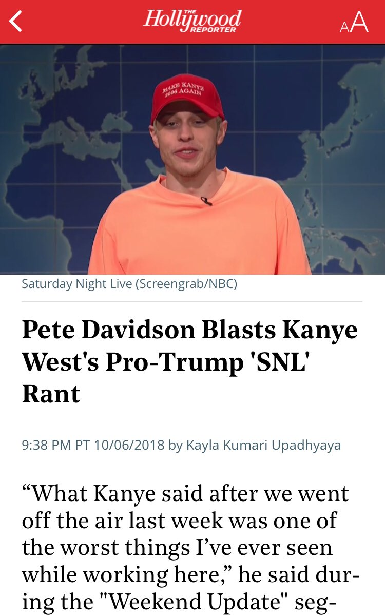 """His hat should have just said, """"Make Kanye Obedient Again."""""""