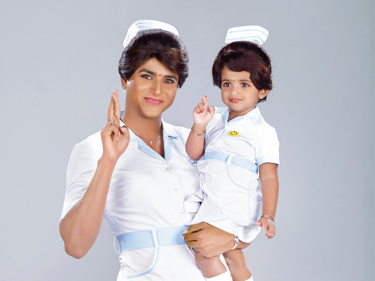 One of the most memorable day to all our #SKians. #Remo released this same day two years back, was a complete entertainment with a different avatar of our @Siva_Kartikeyan anna. Here's an unseen pic of our @Siva_Kartikeyan anna with our angel #AaradhanaSK in 'REMO' look 🤩🎉🎊