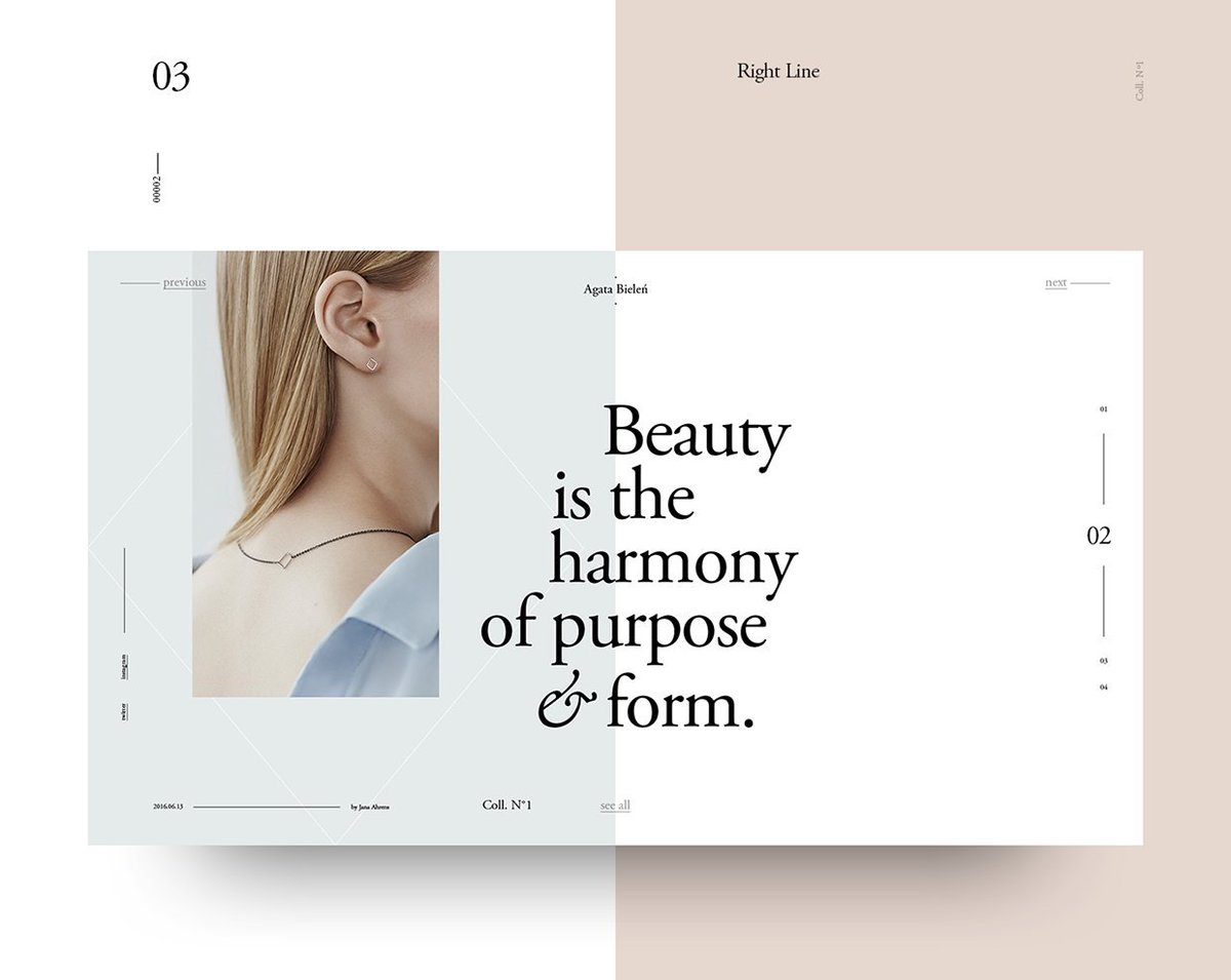 """The Futur on Twitter: """"Broken Grid Layouts in Web Design Harmony and logic  are a constraint to creativity, sometimes. In Broken Grids, images and text  overlap, creating something unique, assymetrical and beautiful. #"""