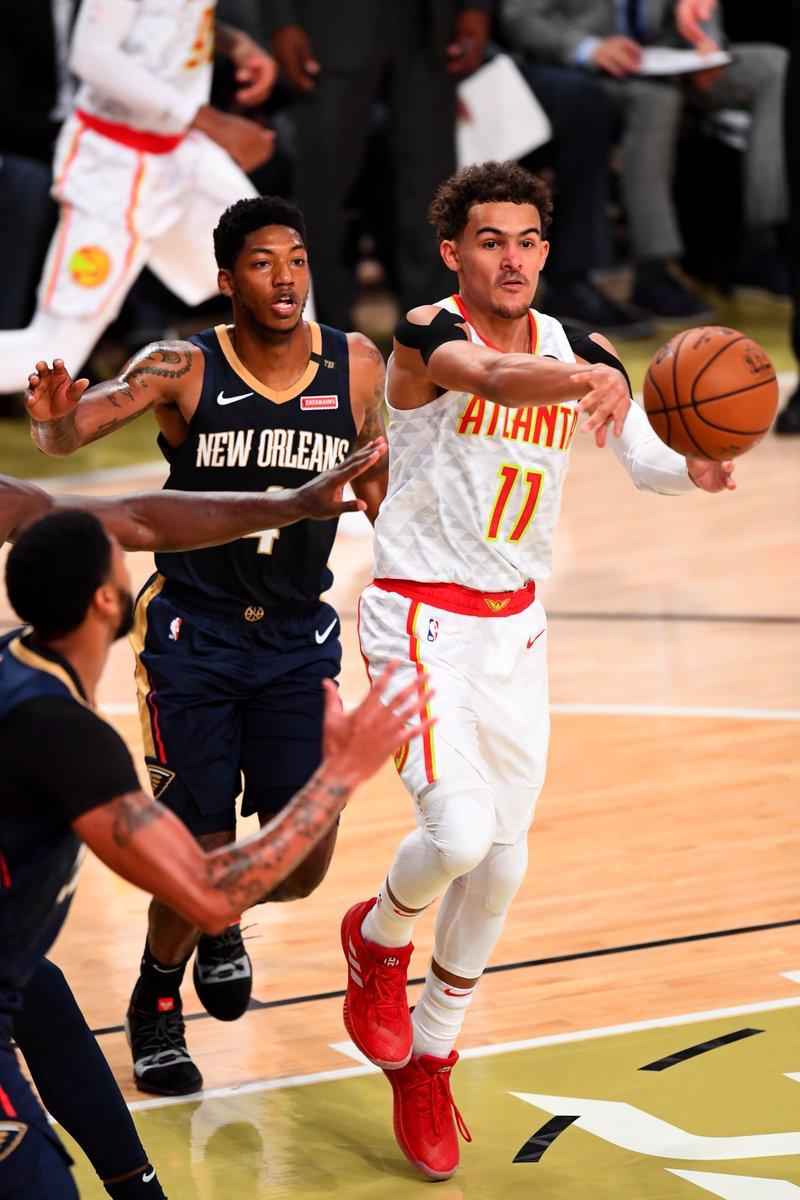 .@ATLHawks rookie Trae Young leads all #NBARooks with 6.5 APG in the #NBAPreseason! Hawks/Thunder: 3pm/et, @NBATV