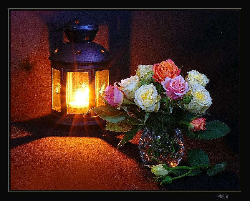 Открытки добрый ночи при цветах, хорошего вечера