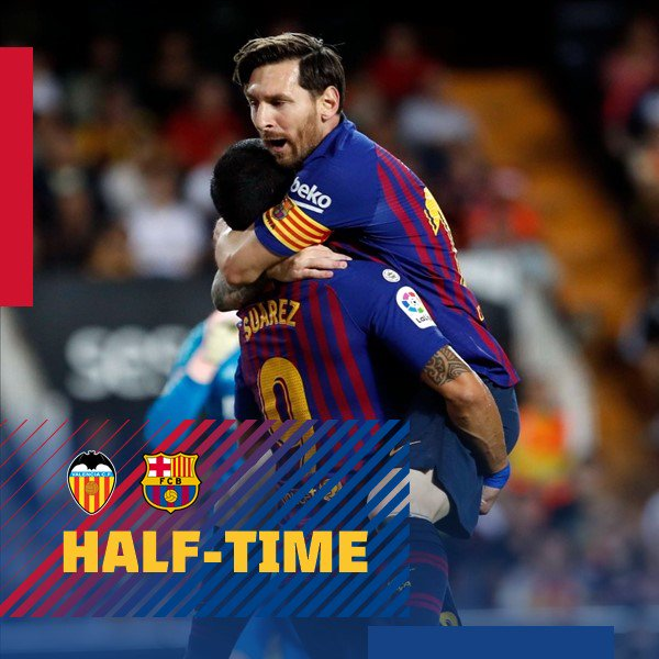 �� Descans!  ⚽ #ValenciaBarça (1-1)        ↪ Garay // #Messi  ���� #ForçaBarça https://t.co/BUEFsX7Dh2