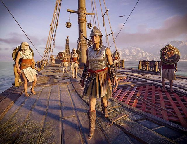 For no specific reason whatsoever, here's Kassandra on her ship with the crew of lady assassins.  #assassinscreed #assassinscreedodyssey #screenshot #photomode #crew #videogame #ancient #greece #boat #ship #ladyassassins #neverthelessshepersisted #teamkassandra …
