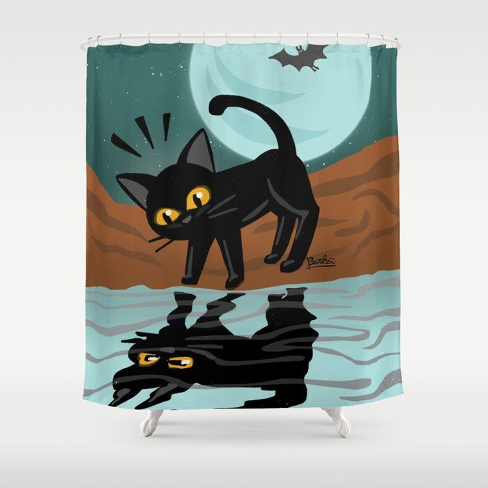 Reflection Shower Curtain By Batkei