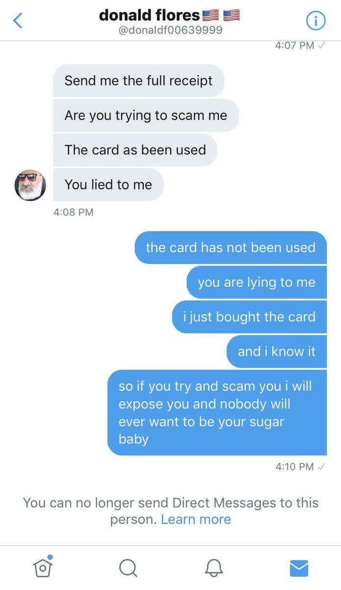 sugar baby scams