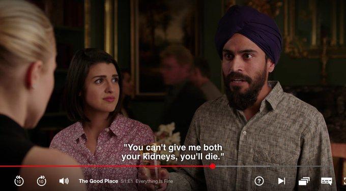 The Good Place Netflix Singh 👳🏽 ♂ 🦁 #Singh #Sikh