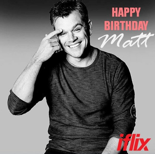 Happy birthday to Oscar winner Matt Damon!