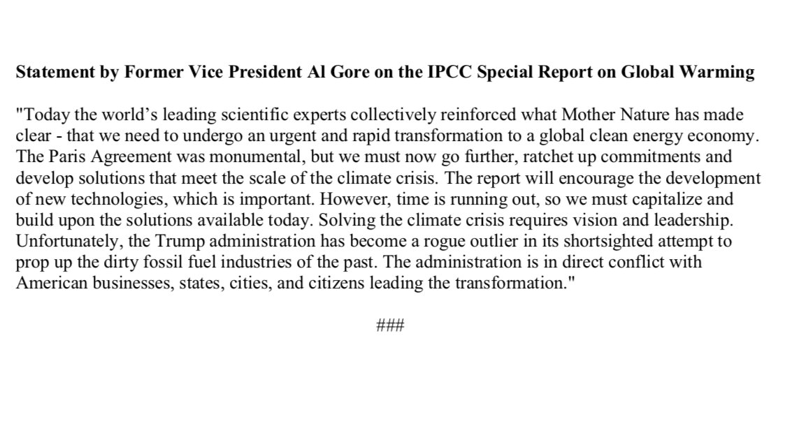 My statement on the latest #IPCC Special Report: ow.ly/8Ryo30m8tPu
