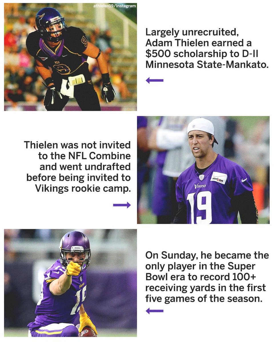 With @athielen19 making history today, we look back on his journey to NFL stardom.