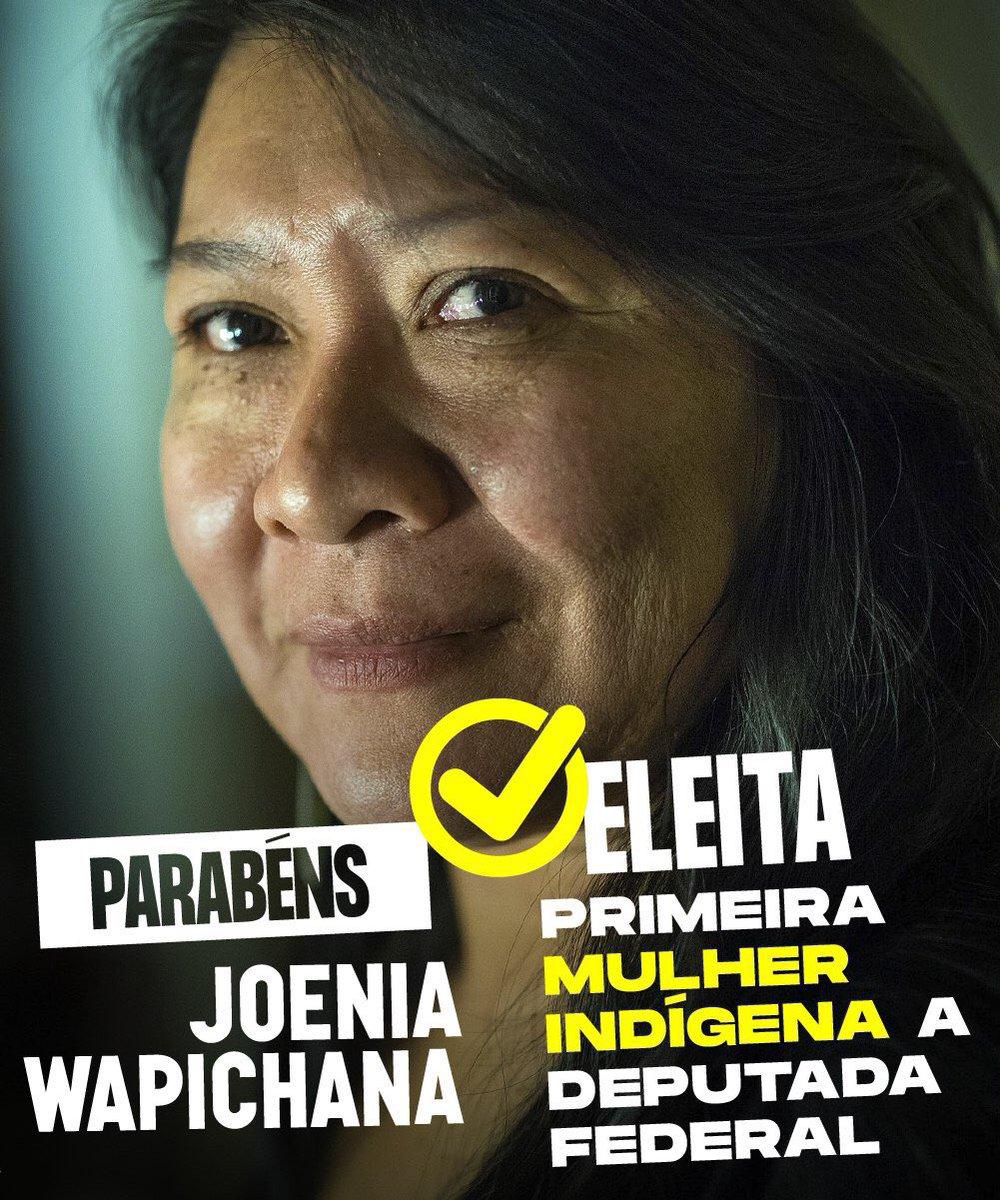 Parabéns Joenia! Primeira mulher indígena eleita Deputada Federal! #eleicoes2018