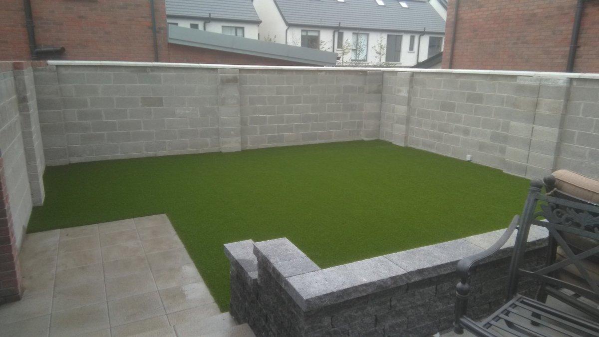 Completed photos of a garden in Knockrabo, Goatstown with RG Silk 25 artificial grass. #newbuild  #Dublin  #ireland   http://www.dublinartificialgrass.ie   @DubArtificial