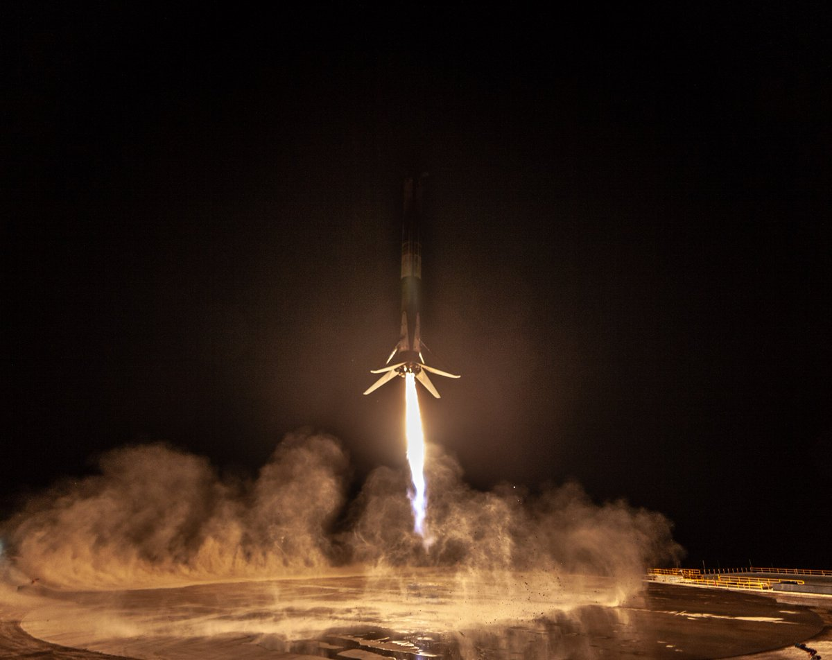 Falcon 9's first West Coast land landing