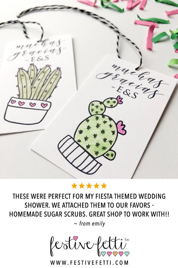 8b0da2f95f61e6 Custom party favor gift tags with cactus art are personalized just for you  - with or without Muchas Gracias.pic.twitter.com 6232XjDkcl