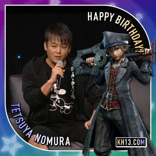 (Happy birthday to) Tetsuya Nomura (born October...