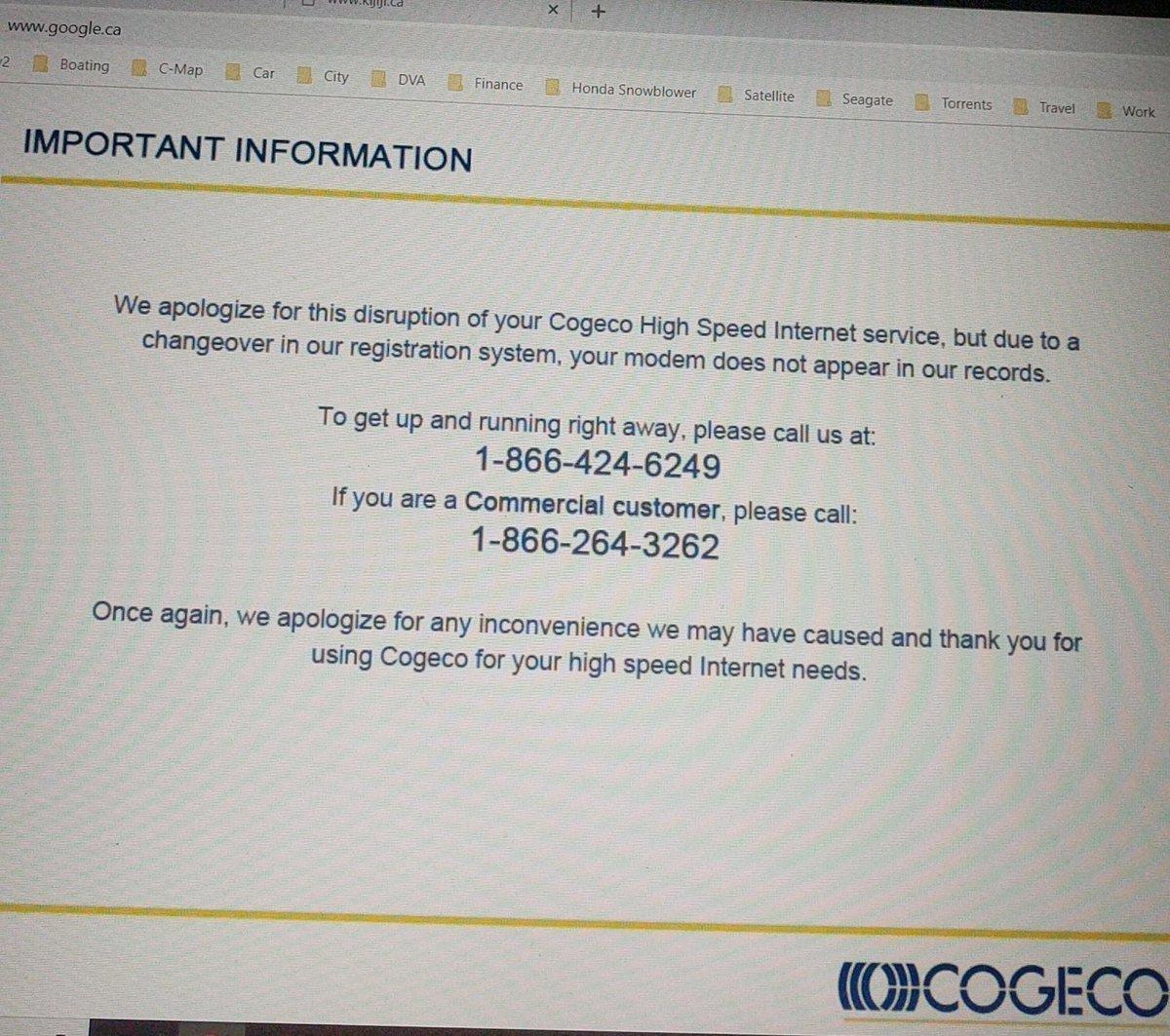 cogeco hook up fee