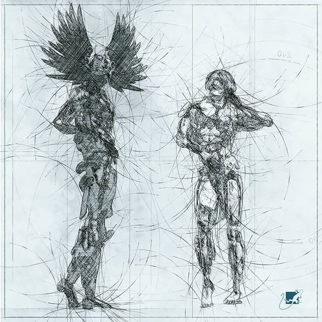 gay robots I (sketch) #3dartist #3dart #painting #drawing