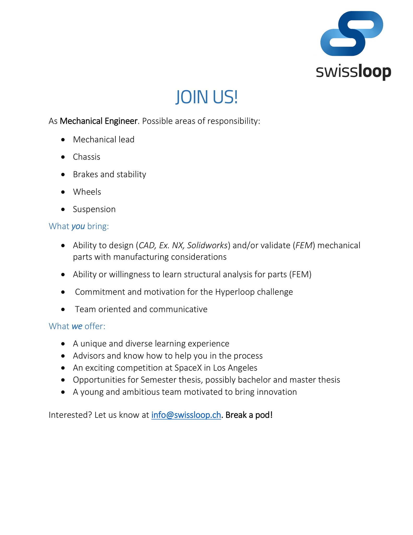 Swissloop on Twitter: