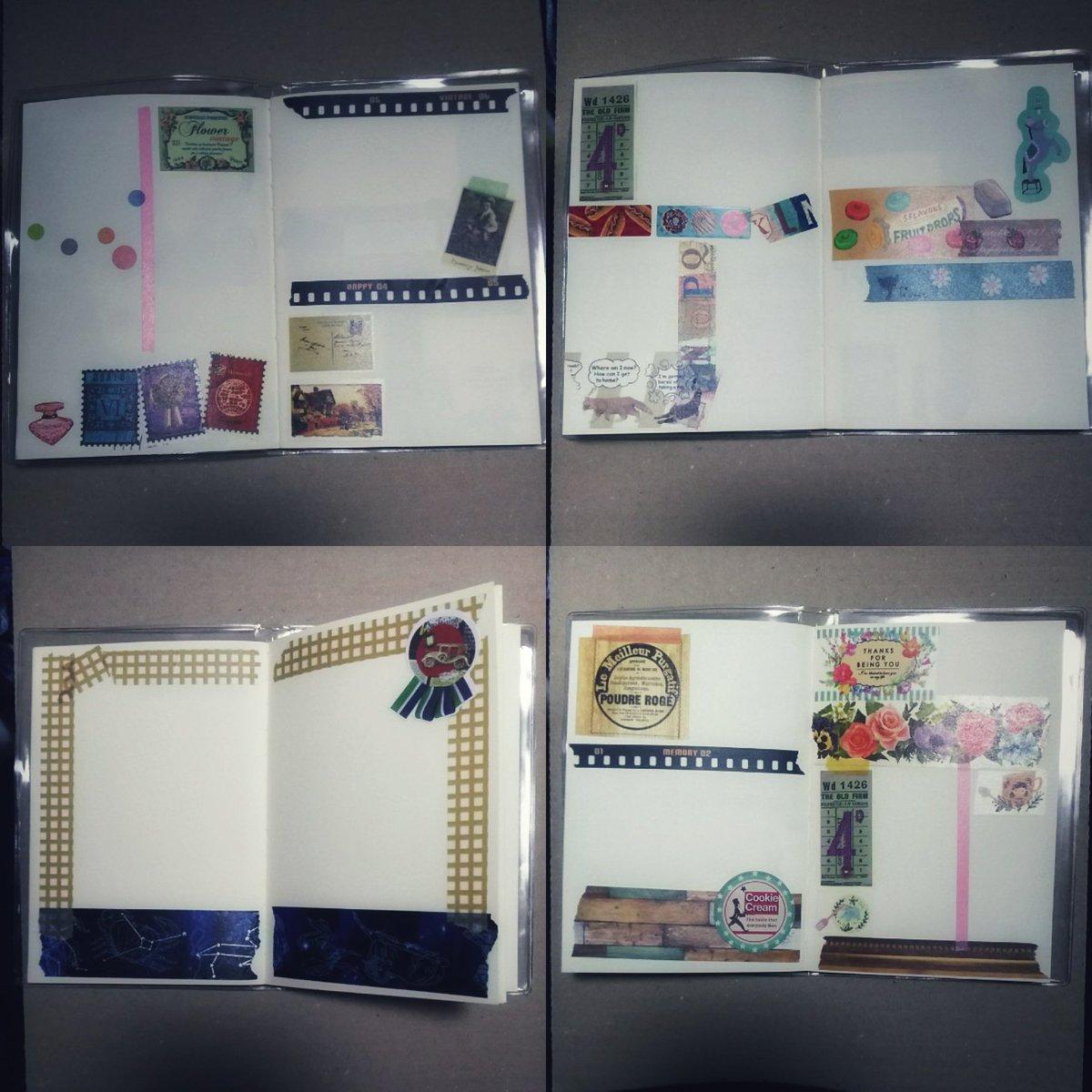 test ツイッターメディア - 今、Instagramに投稿して来たノート。Instagram、いつまで経っても使い慣れない(;A´▽`A  #東京アンティーク #ダイソー #セリア #ノート #マスキングテープ #文房具 #notebook https://t.co/VJIwGpnK8Q