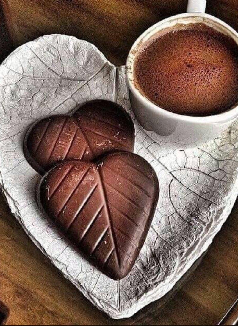 открытка кофе и шоколад с добрым утром нарисовали раннюю