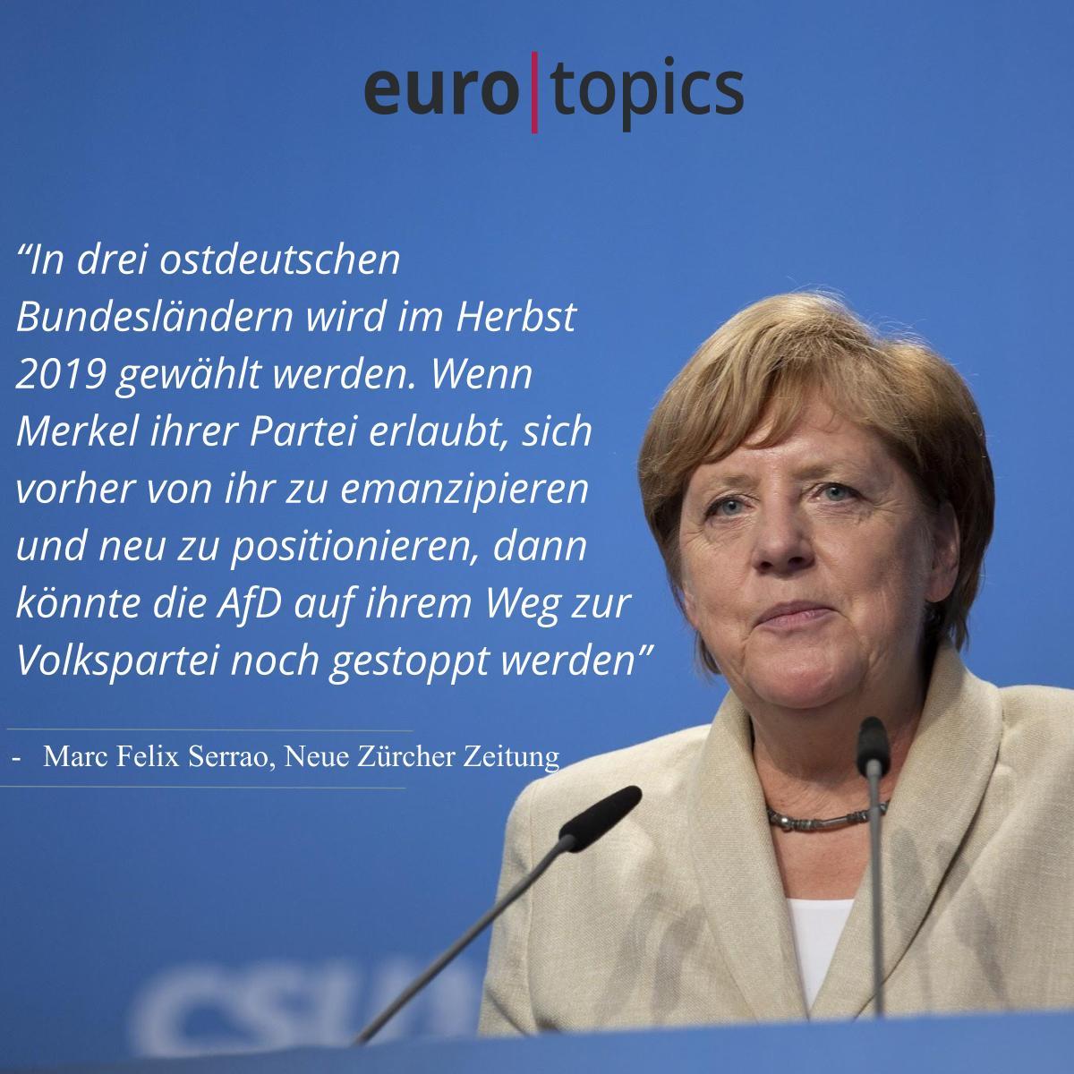 Eurotopics De On Twitter Merkel Muss Weg Und Die Cdu