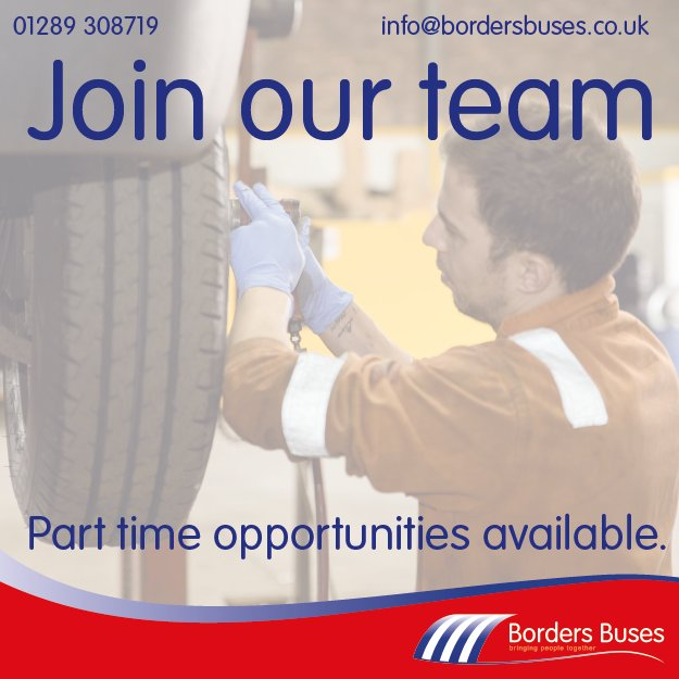 test Twitter Media - Steer your career in a new direction with Borders Buses 😃  We have an exciting opportunity for a part time Cleaner/ Shunter based at our Beriwck depot 🚌  Find out more and apply today at: https://t.co/enlaTvuez9 https://t.co/zGrPfCuZdg