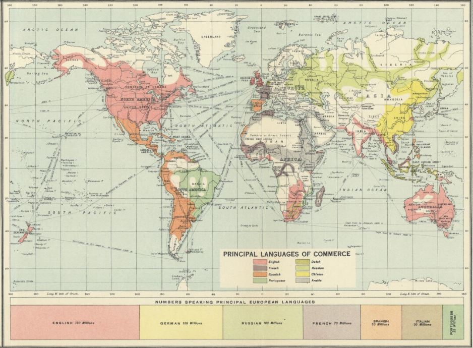 Map Of The World 1920.Nls Map Collections On Twitter Europeandayoflanguages This Map
