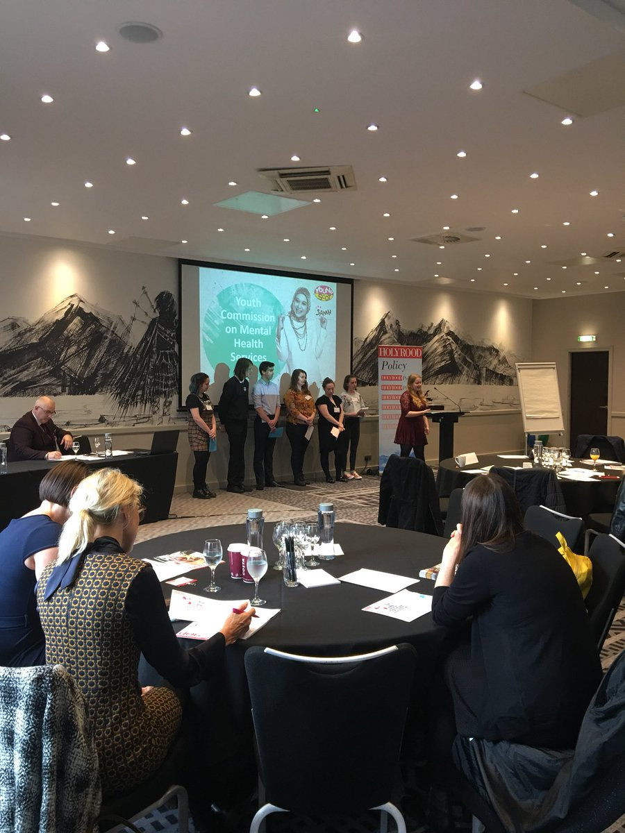 test Twitter Media - The Youth Commission ticking off their first presentation of the day at the Supporting Children and Young People's Mental Health event. It is always amazing for them to share all their hard work 💪🏼🧠🗣 #YCMHS #YOYP2018 #CYPMH @SAMHtweets @HolyroodEvents https://t.co/f6EyTcYDCs