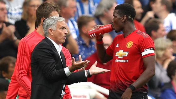 Jose Mourinho has confirmed Paul Pogba is no longer Manchester United's vice-captain, but denied reports of a bust-up between the pair.  https://t.co/njpfxVHMUz