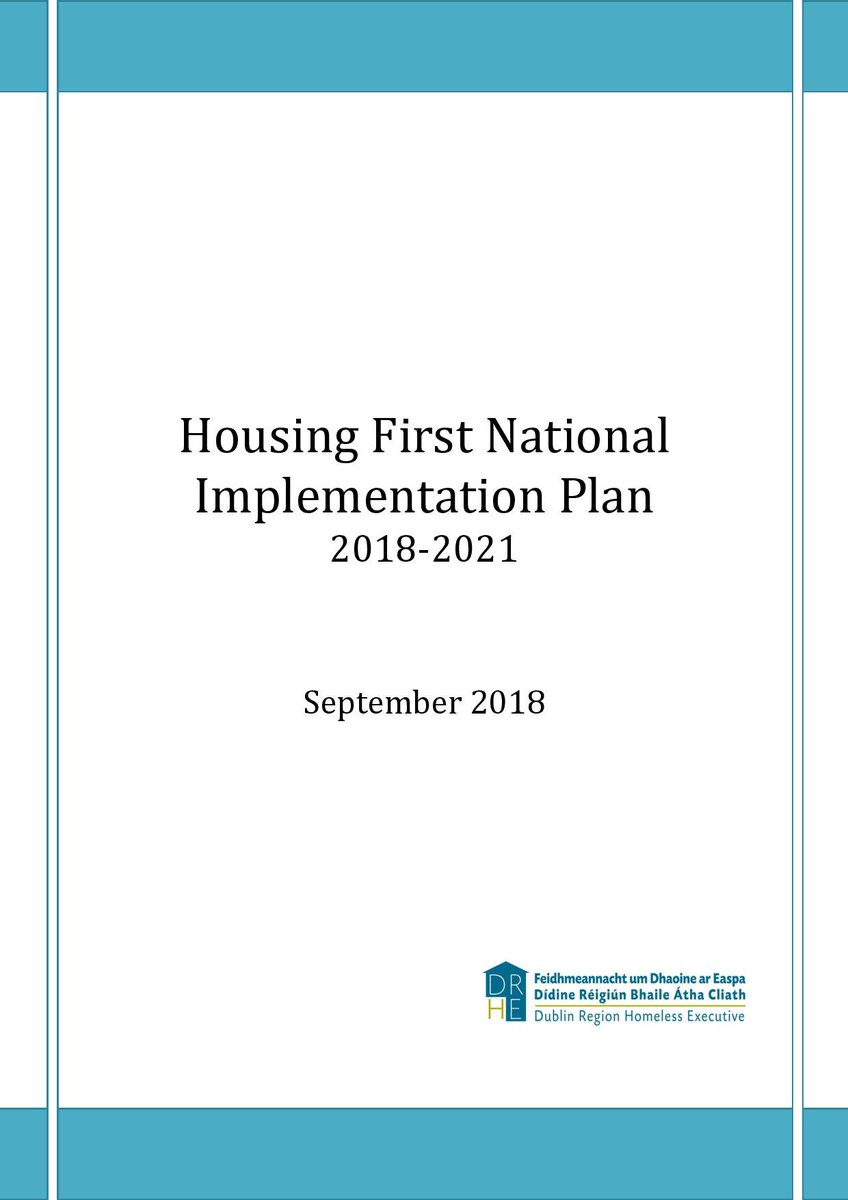 The Minister for Housing and the Minister for Health are launching the Housing First National Implementation Plan with Housing First National Director Bob Jordan #HousingFirst Download the plan here https://www.homelessdublin.ie/our-work/news/housing-first-national-implementation-plan-2018-2021-launched-today-2 …