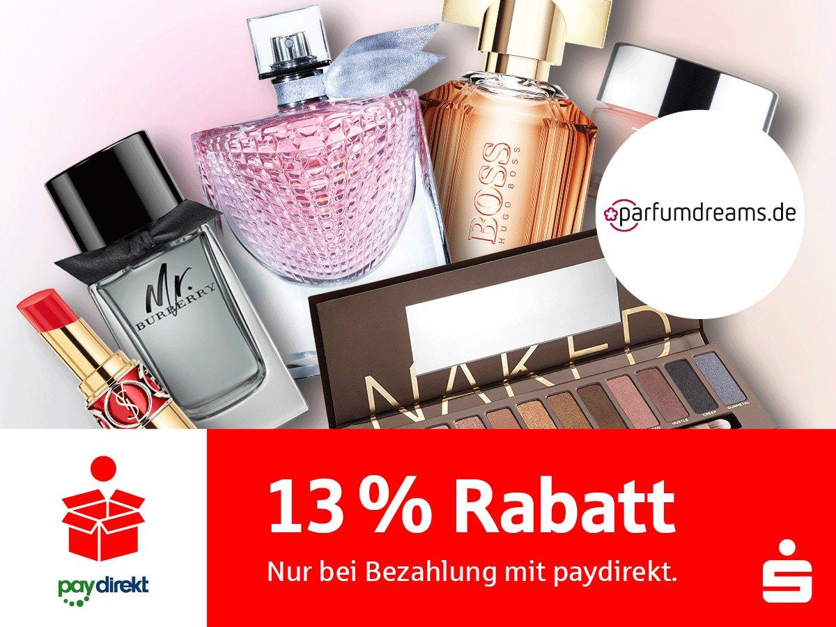 """5dc13fef2538f6 Wenn Sie bei  parfumdreams mit  paydirekt bezahlen und den  Gutscheincode  """"paydirekt18"""" eingeben"""