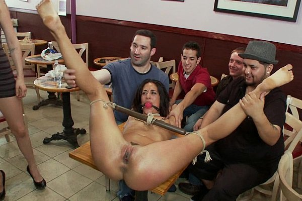 Full Gallery: https://t.co/J7afZmNob7 Tied and fucked on a table in public place... https://t.co/gDgxZEfHUs