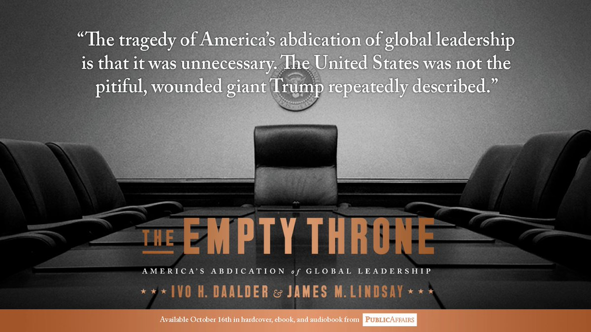 "Image result for book, ""The Empty Throne"" by vo H. Daalder and James M. Lindsay"