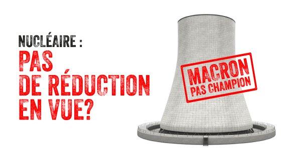 Champion de la Terr @EmmanuelMacrone  ?  Il ne semble pas décidé à fermer 2 à 3 réacteurs par an de 2022 à 2030.  👉C'est pourtant ce qu'il faudrait pour faire de grandes économies. 👉  #nucléaireLe  est l'une des énergies les + coûteuses & risquées et ça ne sauvera pas le  #climat