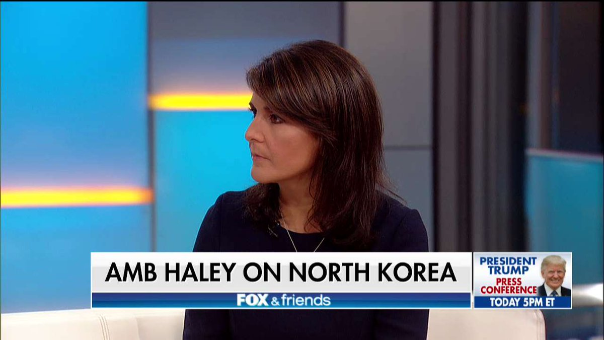 .@NikkiHaley: 'The president's very good when you put him in front of a foreign leader.' @foxandfriends