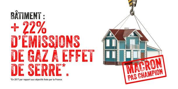 Champion de la Terr @EmmanuelMacrone  ? Un plan de rénovation des logements sans moyens à la hauteur.  👉Pas de redistribution suffisante des recettes de la taxe carbone qui rapportera pourtant 2,8 milliards d'euros en ➕ en 2019
