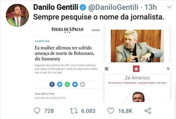 Sim, @DaniloGentili é um valentão irresponsável, mas, como todos os valentões, é um covarde. Ele finge ser um valente dissidente das ortodoxias, mas ele só pega os fracos e marginalizados e foge do conflito real que ele começou. Tudo o que ele faz te a ver com suas inseguranças.