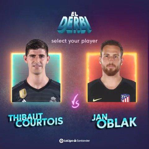 ¿Cuál de estos dos porterazos te gusta más?   🔁 @thibautcourtois  ❤ Oblak   #RealMadridAtleti