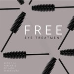 Eyeing up true beauty? 👀Get a free eye treatment when you purchase lash extensions at #SevaBeauty!
