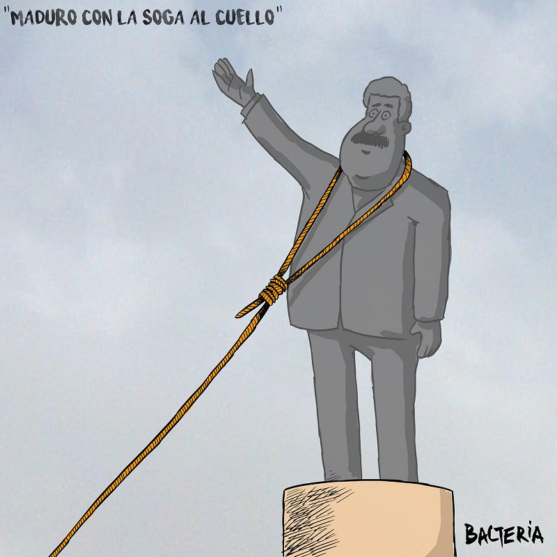 Resultado de imagen para Caricatura de Maduro con la soga al cuello